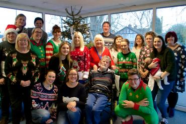 Group photo of TAB Staff at Christmas