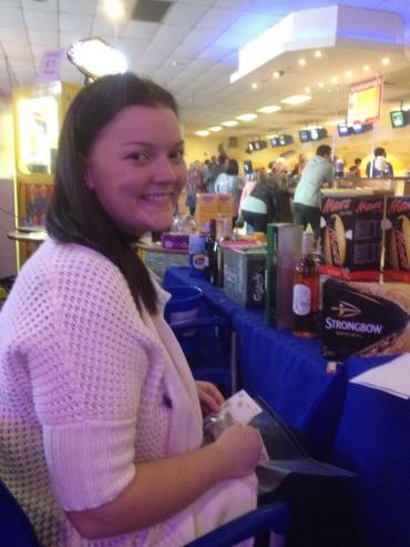 Cherise at the bowling fundraising day